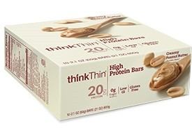 Think Thin High Protein Bars Creamy Peanut Butter 2 1 Oz