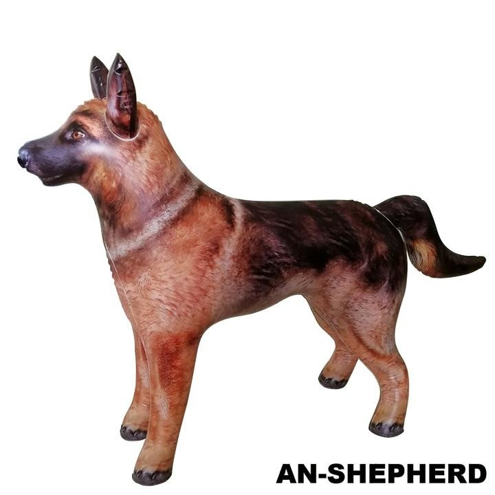 Jet Creations Inflatable Lifelike Animals, German Shepherd, 41 Inches Long