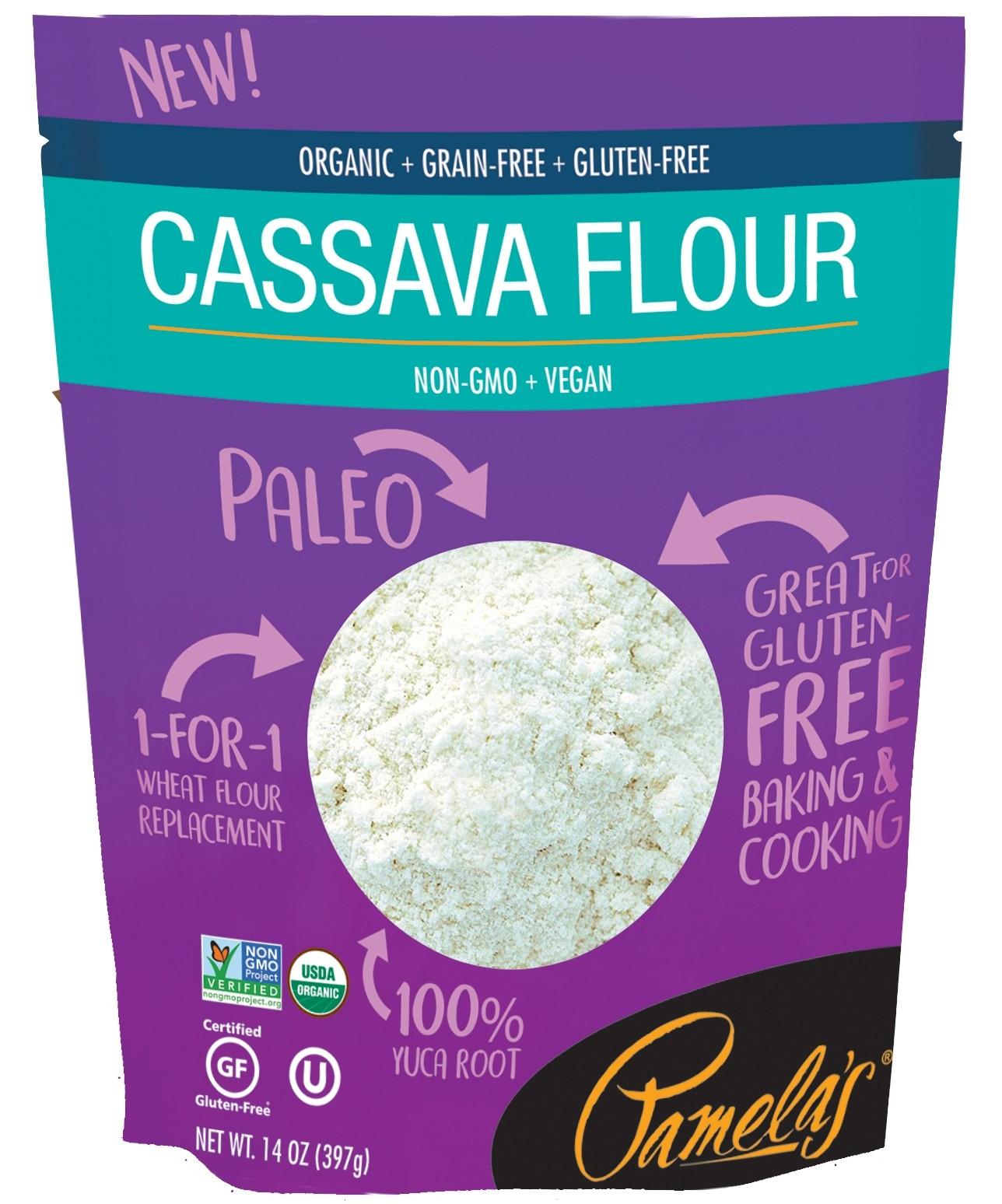 Pamela's Organic Cassava Flour, 14 Oz [3 Pack]