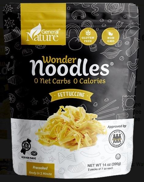 Wonder Noodles Fettuccine Front