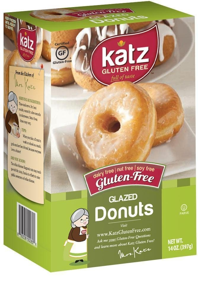 Katz Gluten Free Glazed Donuts (Case of 6)