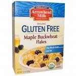 Arrowhead Mills Gluten Free Organic Maple Buckwheat Flakes Cereal, 10 Oz. Box (12 Boxes)