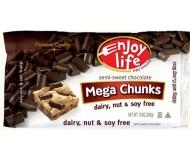 Enjoy Life Gluten Free Mega Chocolate Chunks, 10 Oz Bag (12 Pack)