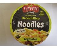 Gefen GF Brown Rice Noodle Bowl, Vegetable (12 Pack)