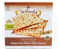 Yehuda Gluten Free Matzo Squares, Toasted Onion, 10.5 Oz (6 Boxes)