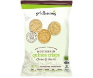 Goldbaum's Multigrain Quinoa Crisps, Onion Garlic, Snack Bag (Case of 36)