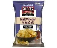 Boulder Canyon Malt Vinegar & Sea Salt Chips, (12 Pack)
