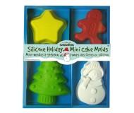 Silicone Holiday Mini Cake Molds
