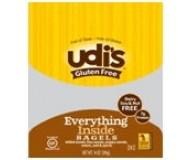 Udi's Gluten Free Everything Inside Bagel (Case of 8)