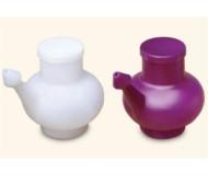 Wai Lana, Yoga Props & Tools, White Durable Plastic Neti Pot (Including Lid)
