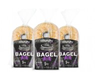 O'Dough Gluten Free Bagel Thins, Sprouted Whole Grain Flax, 100 Calorie Bagels, 10.58 Ounce [3 Packs]