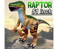 Jet Creations Inflatable Prehistoric Dinosaurs, Velociraptor, 51 Inches Tall [Pack of 6]
