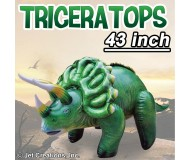 Jet Creations Inflatable Prehistoric Dinosaurs, Triceratops, 43 Inches Tall [Pack of 6]