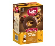 Katz Gluten Free Chocolate Frosted Donuts [Case of 6]