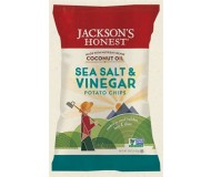Jackson's Honest Organic Potato Chips Made with Coconut Oil, Sea Salt & Vinegar, 5 Oz (12 Pack)