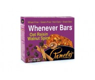 Pamela's Gluten Free Whenever Bars, Oat Raisin Walnut Spice, 5 Bars per box [Case of 6]