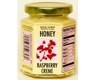 Honey Acres Artisan Honey Creme, Raspberry Creme, 8 Oz Jar