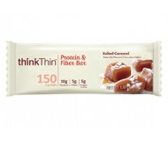 Think Thin Protein and Fiber  Bars, Salted Caramel, 1.41 oz [10 Pack]