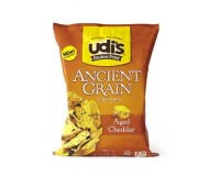 Udi's Gluten Free Ancient Grain Crisps, Aged Cheddar, 4.93 Oz (12 Pack)