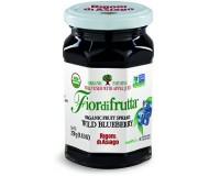 Fiordifrutta Organic Jam Spread, Wild Blueberry, 8.82 OZ ( Case of 6)