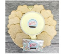 Flower Shaped Cookie Decorating Set, Gluten Free Sugar Cookies, 10 Cookies