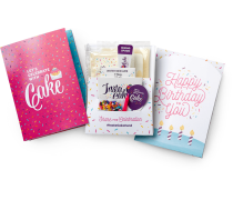 INSTACAKE Birthday Card - Happy Birthday Greeting Card with Single Serve Gluten Free Mug Cake Mix