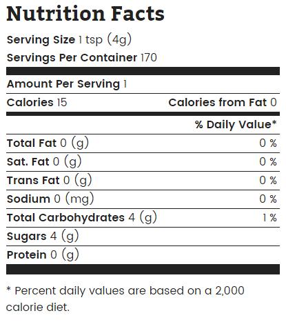 wholesome sweetener turbinado raw sugar nutrition